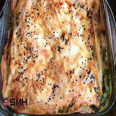 smhtrend beşamel soslu ıspanaklı börek